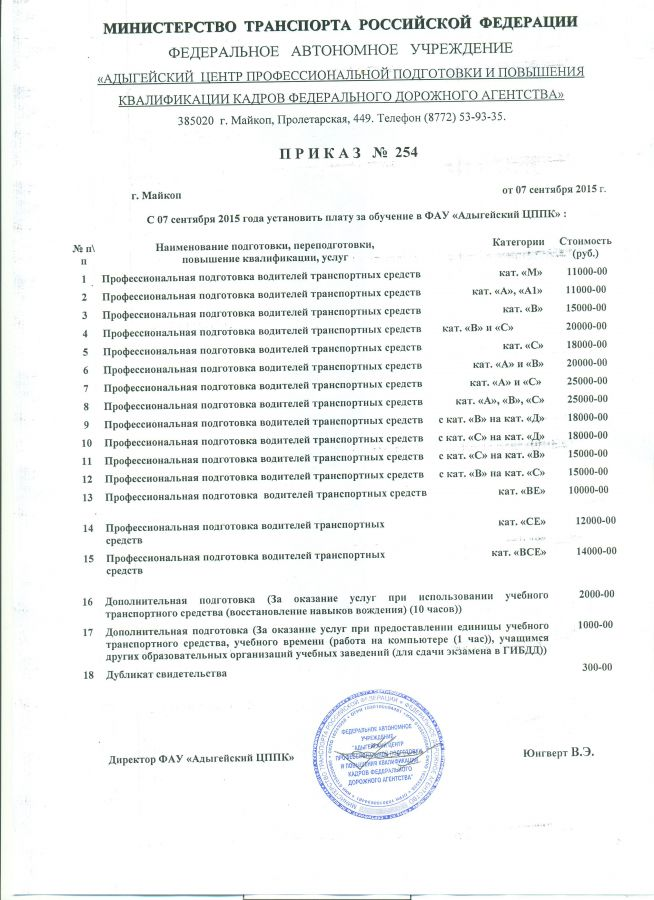 приказ об утверждении плана обучения сотрудников образец